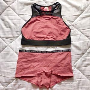 PINK Victoria's Secret Intimates & Sleepwear - Vs Pink Racerback Sports Bra & Panty Set